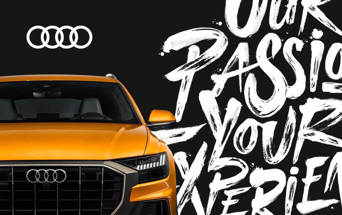 Audi lettering